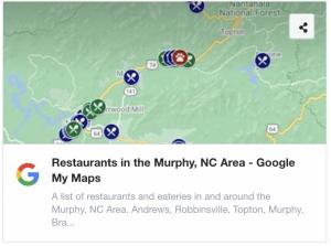 Resturants in Murphy NC