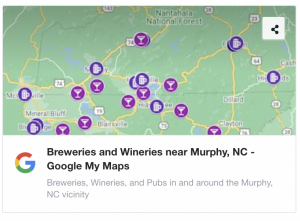 Breweries and Wineries Near Murphy NC